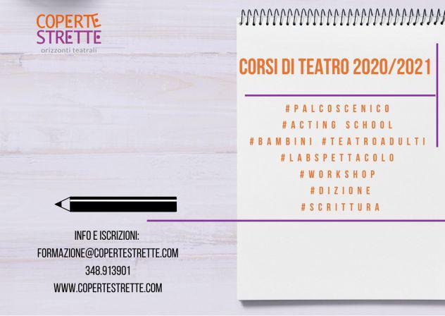 Corsi di teatro 2020/2021 - scuola di teatro coperte strette