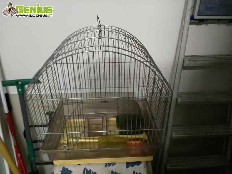 Gabbia in metallo per uccellini o animali piccola taglia con