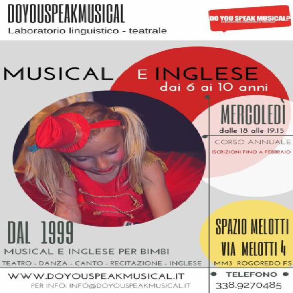 Musical e inglese per bambini dai 6-10 anni. s.