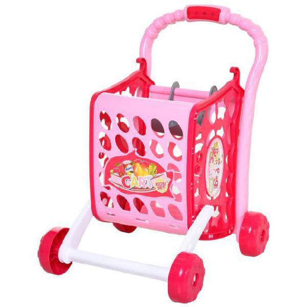Carrello giocattolo spesa per bambini 41,5x33,5x48,5 cm