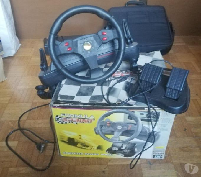 Joystick vintage volante e pedali thrustmster formula sprint
