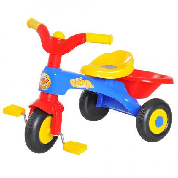Triciclo a pedali per bambini con cestino portaoggetti