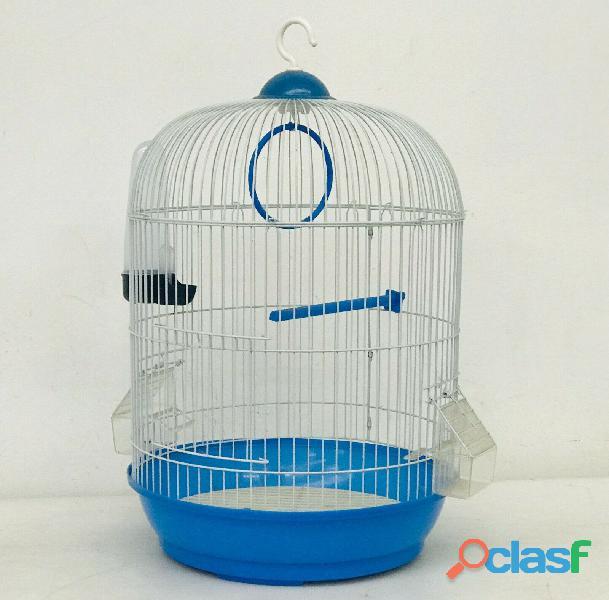 Gabbia uccellini BLU mod. NEVE TONDA dim. 33x53