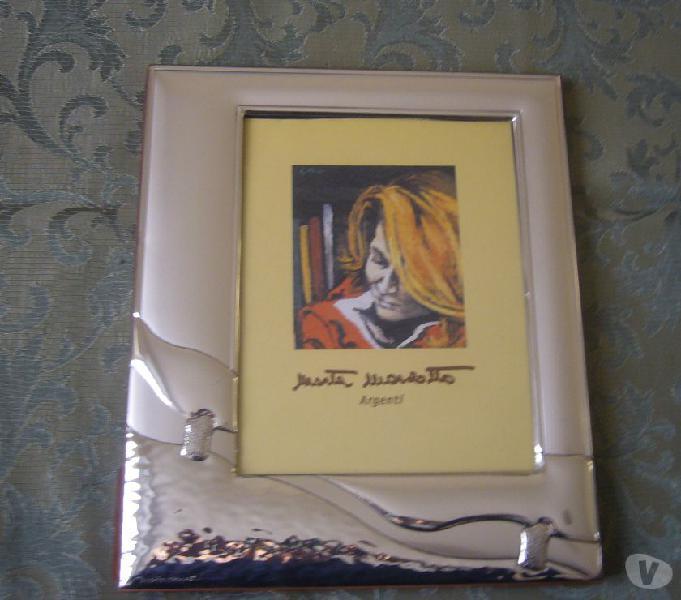 Portafoto con cornice in argento marta marzotto 20x23