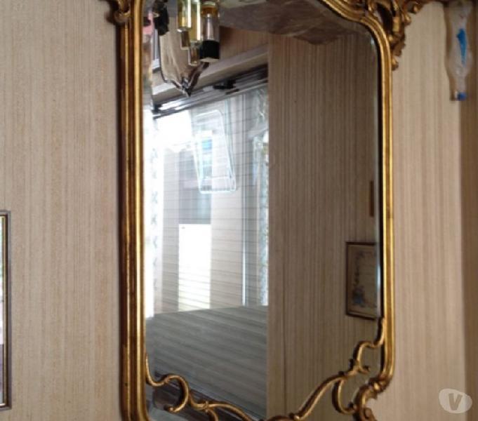 Specchiera dorata antica larga 98 alta 120