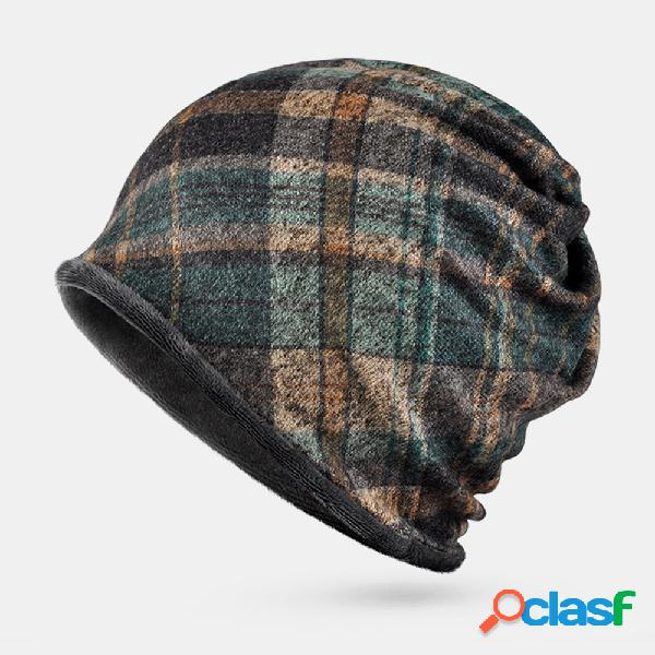 Bavaglino da donna doppio uso moda plaid soft protezione antivento cap wave cap