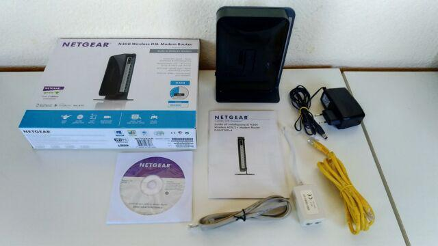 Netgear n300 wireless dsl modem router dgn2200v4