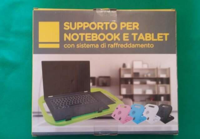 Supporto pc portatile/tablet con ventola raffreddamento usb