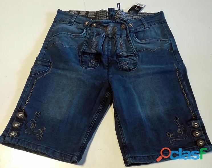 Pantaloni bermuda jeans, stile tirolese 1