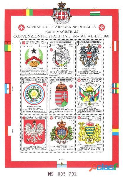 Francobolli nuovi annata 1992 S.M.O.M