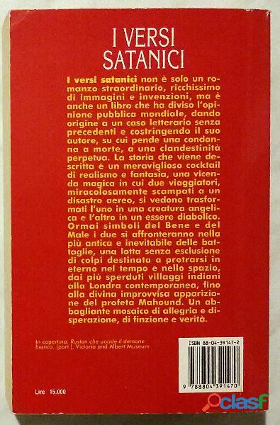 Versi satanici di Salman Rushdie; 1°Ed.Mondadori, luglio 1994 come nuovo 1