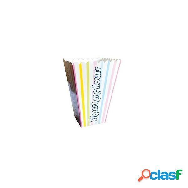 18 contenitori monouso in carta per marshmallow
