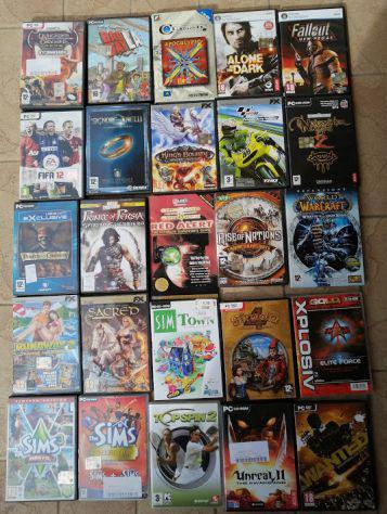 65 dischi di videogiochi per pc originali perfettamente