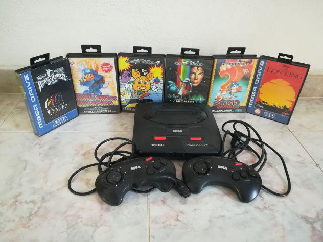 Console sega mega drive 2 originale con sei giochi