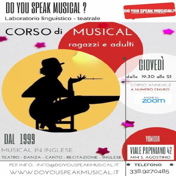 Corso musical in inglese per ragazzi e adulti in v.le
