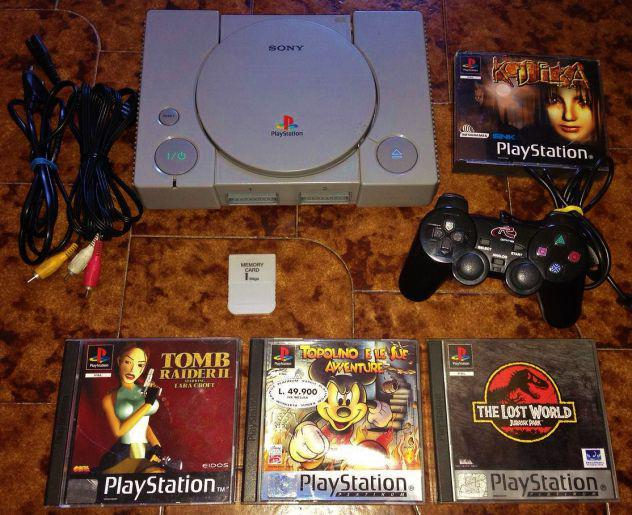 Sony console ps1 playstation 1 modificata controller giochi