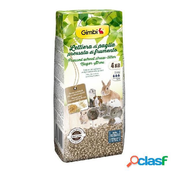 Gimborn - gimbi lettiera di paglia pressata di frumento confezione da 4 kg - formato convenienza!