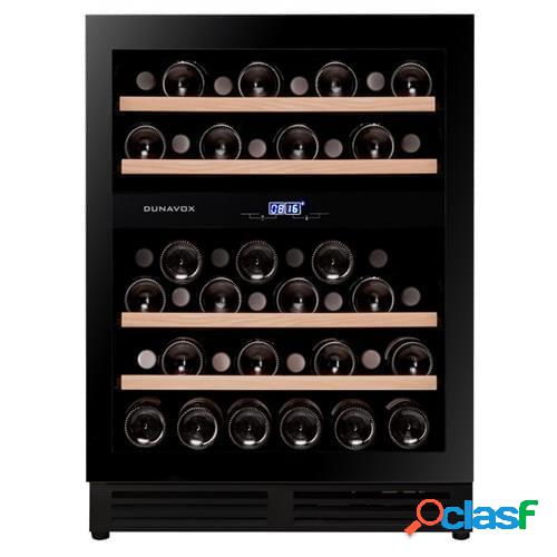 Cantina linea exclusive 2 temperature con porta full glass nera e apertura push to opem - classe a, 45 bottiglie