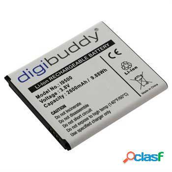 Batteria compatibile per samsung galaxy s 4 i9500, i9505 - 2600mah - li-ion - 3,7 v