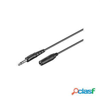Goobay av 6,35 mm / 6,35 mm cable - 5m
