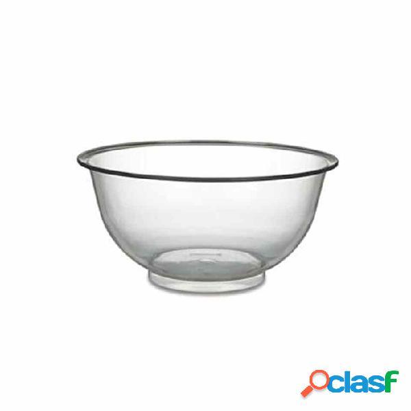 Ciotola mescolatrice in policarbonato trasparente cm 38 - plastica riutilizzabile