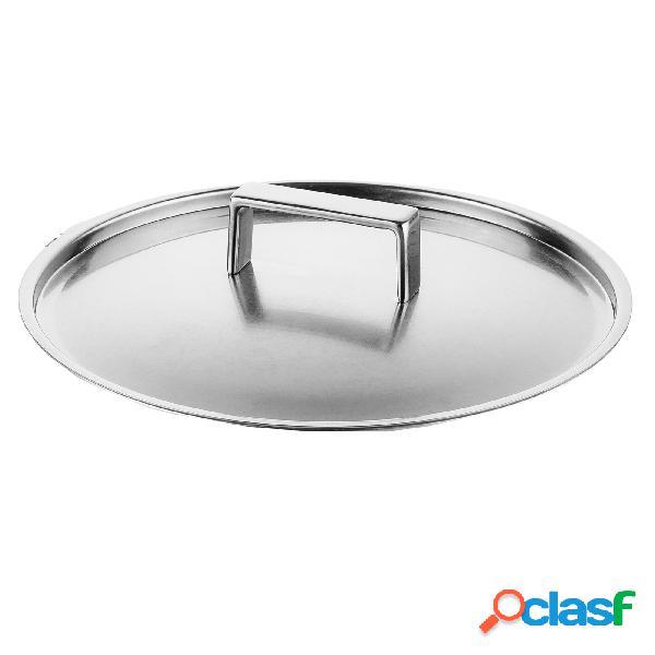 Coperchio in acciaio inox 18/10 linea attiva peltro finitura alluminio