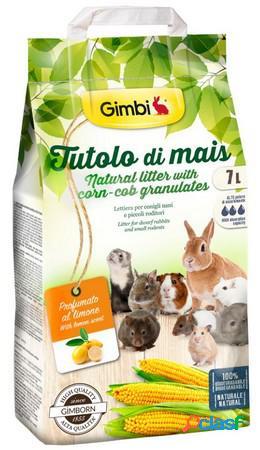 Gimbi lettiera a base di tutolo mais profumazione al limone litri 7