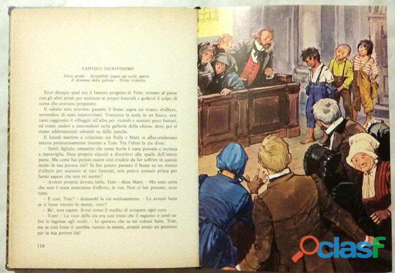 LE AVVENTURE DI TOM SAWYER di Mark Twain 1°Edizione Accademia, 1976 ottimo 3