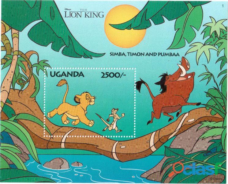 6 foglietti nuovi da collezione Uganda