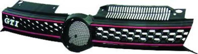Griglia radiatore rossa per volkswagen golf vi gti dal 2009