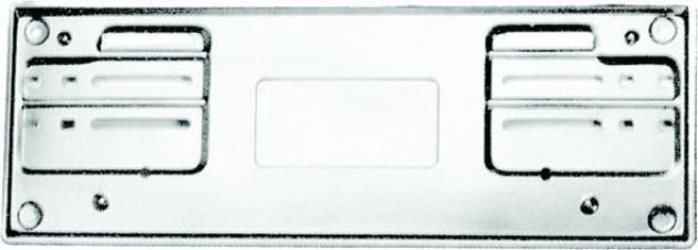 Portatarga anteriore alluminio per vetture dal 1999