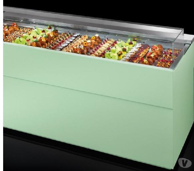 Vetrina per bar refrigerate e calde drop in