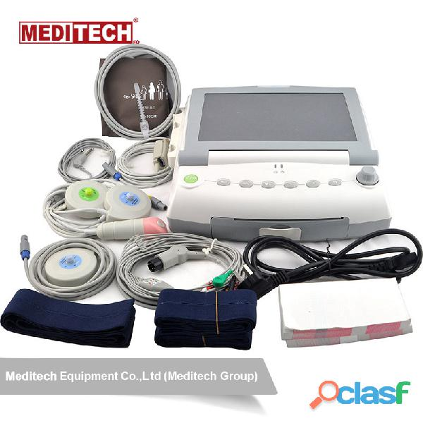Advanced fetal monitor with large color screen,for twins ,and have 6 parameters options fetal heart 2