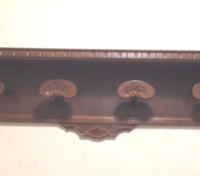 Appendiabiti vintage da parete legno da 4