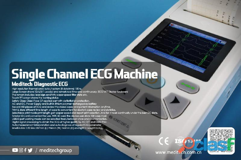 Palm size ECG machine with CE certificate ,come with PC ECG software for data transfer from the ecg 1