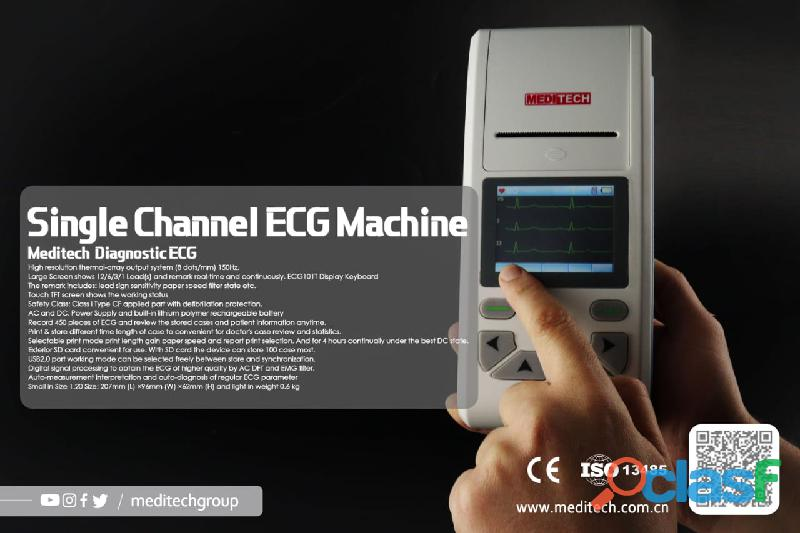 Palm size ECG machine with CE certificate ,come with PC ECG software for data transfer from the ecg 5