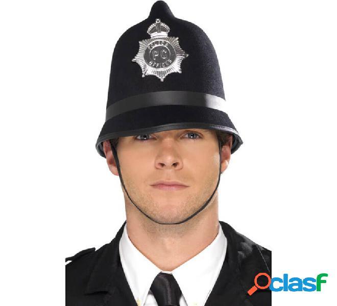 La polizia ha sentito il casco con il distintivo