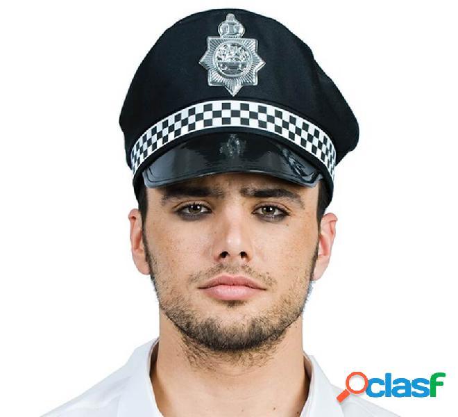 Berretto della polizia con distintivo