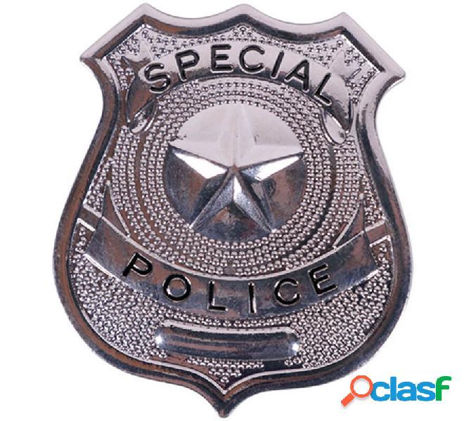 Distintivo metallico della polizia di 6 cm