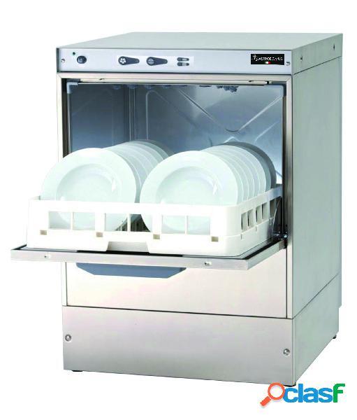Lavapiatti elettronica monofase cesto 50x50cm altezza 32cm - dosatore brillantante e detergente installato