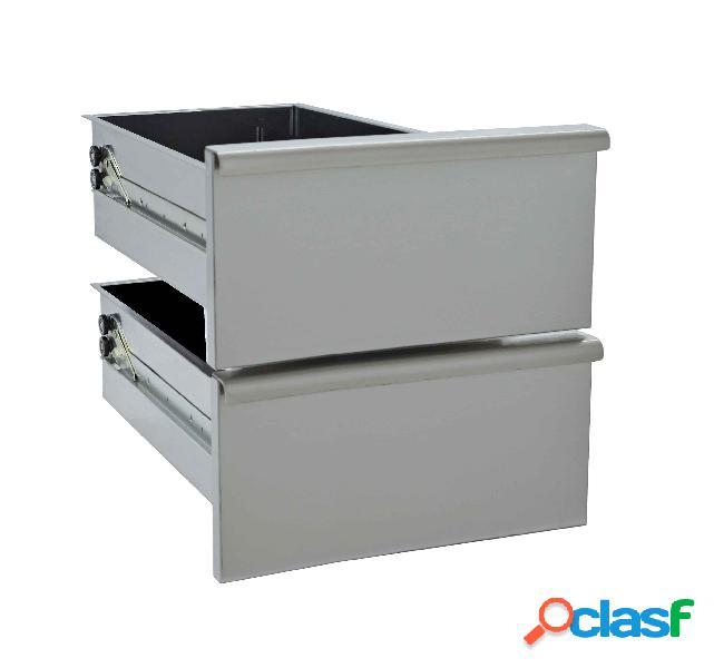 Coppia di cassetti per base da 60 cm - l 60 cm x p 49 cm x h 40 cm