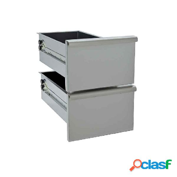 Coppia di cassetti per base da 30 cm - l 30 cm x p 49 cm x h 40 cm