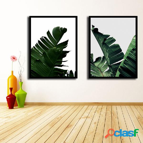 Miico dipinti a mano combinazioni pitture decorative botanic leaves dipinti wall art for home decor