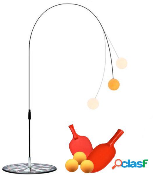 Allenatore di ping-pong base per tennis da tavolo a dispositivo singolo base in metallo su asta in fibra