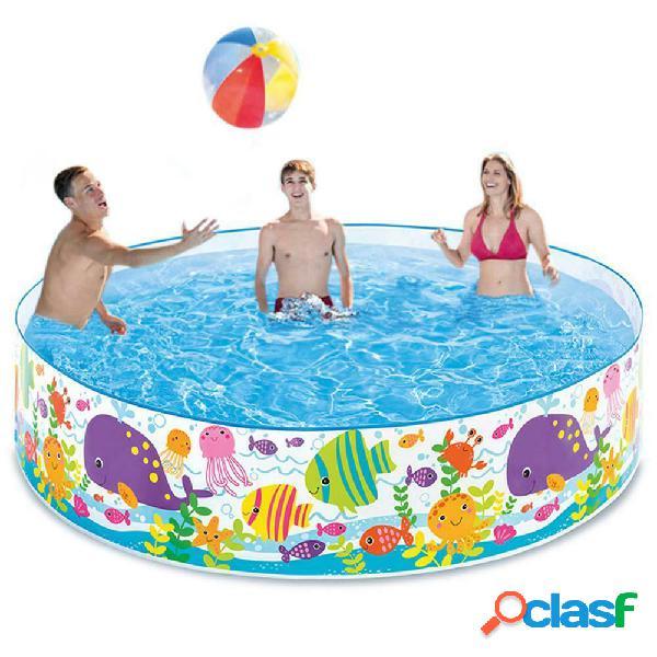 Piscina gonfiabile da 72 '' x 15 '' piscina gonfiabile per bambini piscina per famiglie centro di nuoto per bambini adulti neonati bambini giardino esterno cortile