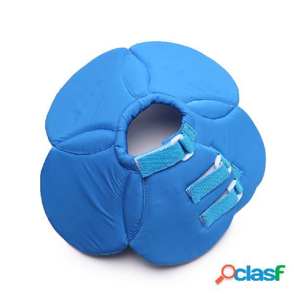 Collare elastico di protezione del collare elisabettiano del cucciolo di gatto di cane da compagnia blu