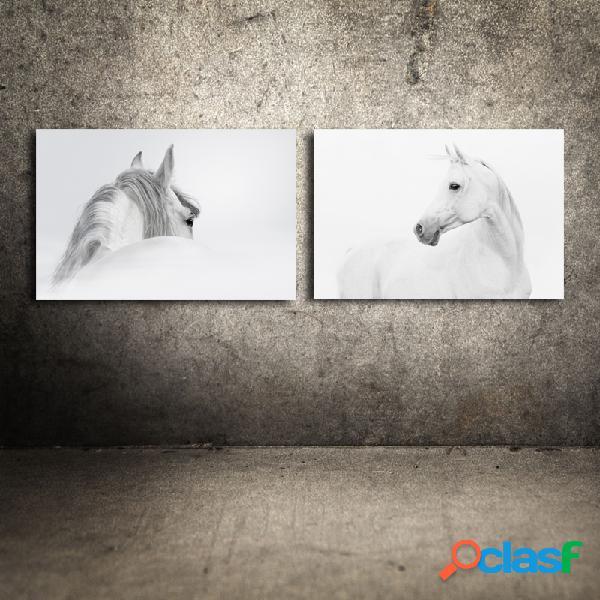 Miico dipinti a mano combinazione di dipinti decorativi cavallo bianco e nero wall art home decoration