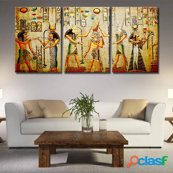 Miico dipinto a mano con tre combinazioni di dipinti decorativi ritratto di cleopatra wall art per la decorazione domestica