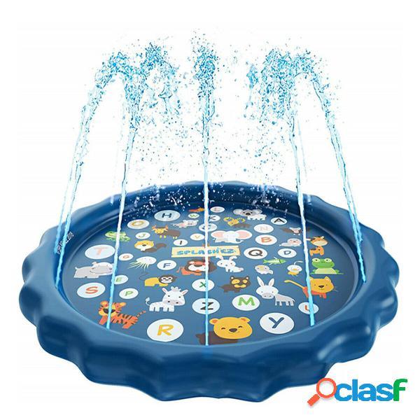 "Sprinkler 3 in 1 per bambini, splash pad e piscina per bambini per l'apprendimento - piscina per bambini con sprinkler, giochi d'acqua gonfiabili da 68 '' - piscina all'aperto ""dalla a alla z"