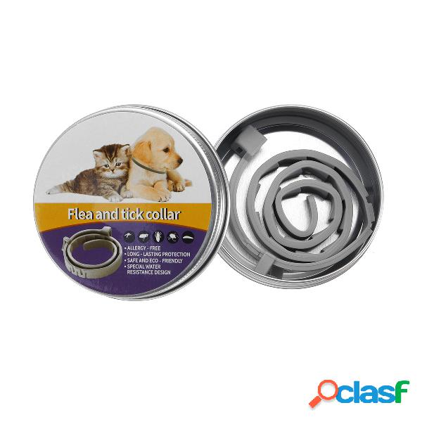 Collare per pulci naturale per cani - protezione per pulci e zecche fino a 6 mesi protezione per zanzare contro insetti
